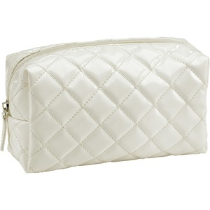 Quilted Small Cosmetic Bag - White Case of 18 (59938 X 18)