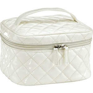Quilted Medium Cosmetic Bag - White Case of 12 (59939 X 12)