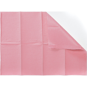 Graham HandsDown 2 Ply Dental Bibs - Pink An Economical Alternative to Poly-Backed Nail Care Towels! 500 Bibs Per Box X 3 Boxes = 1500 Bib Mega Case (99130 X 3)