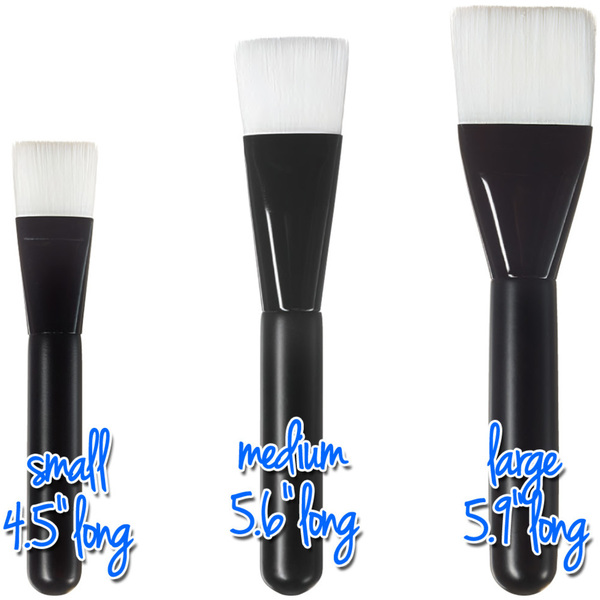 "Small Flat Multi-Purpose Brush - Black - 4.5"" Long with 0.83"" Wide Brush Head Case of 50 Individually Wrapped Brushes