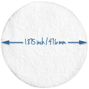 "Round Soft Cotton-Polyester Pads - 1.875"" Diameter 5000 Pack (96649 X 2)"