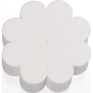 8-Piece Flower Latex-Free Makeup Sponges - White 8 Pieces per Flower X 100 Individually Wrapped Flowers = 800 Sponges (20148 X 100)