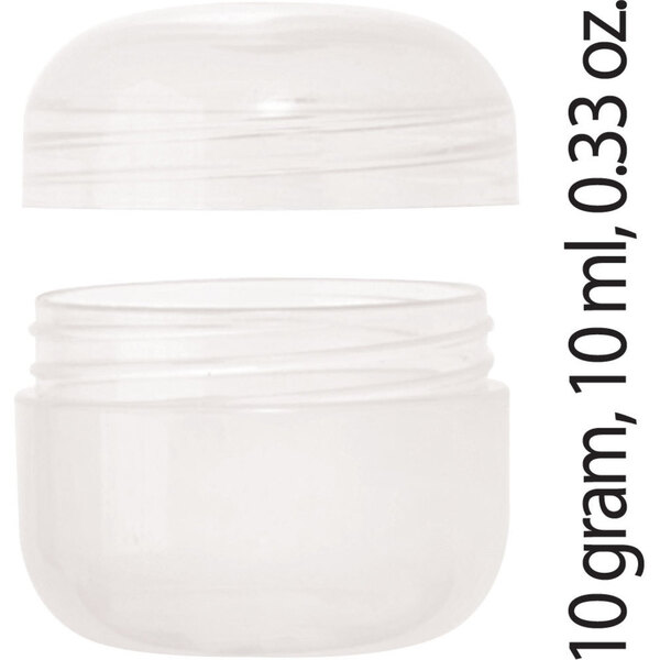 Sample Jar and Threaded Cap - Natural 10 gram 10 ml 0.33 oz. Case of 500 (29724 X 500)