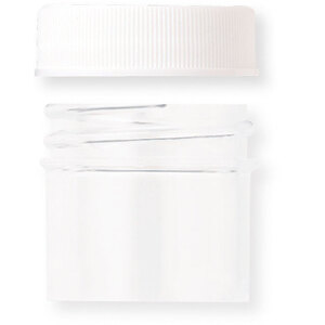 Clear Sample Jar with White Threaded Cap with Liner - 0.25 oz. Case of 300 (29260 X 300)