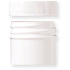 White Sample Jar with White Threaded Cap with Liner - 0.25 oz. Case of 300 (29265 X 300)