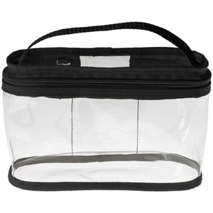 "Medium Clear Cosmetic Train Case - 8.25"" x 5.25"" x 3.5"" Each Case of 16 Bags (599985 X 16)"