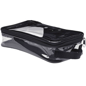 "Clear Rectangular Zip Around Cosmetic Case - 9"" x 5"" x 2.5"" Each Case of 16 Bags (599986 X 12)"
