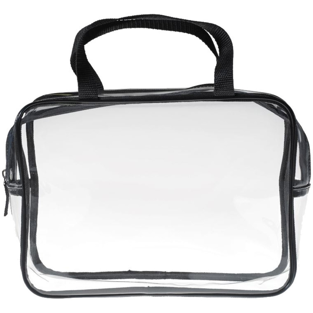 Large Clear Carry All Travel Bag 11 X 7 5 3 Each Case Of 10 Bags
