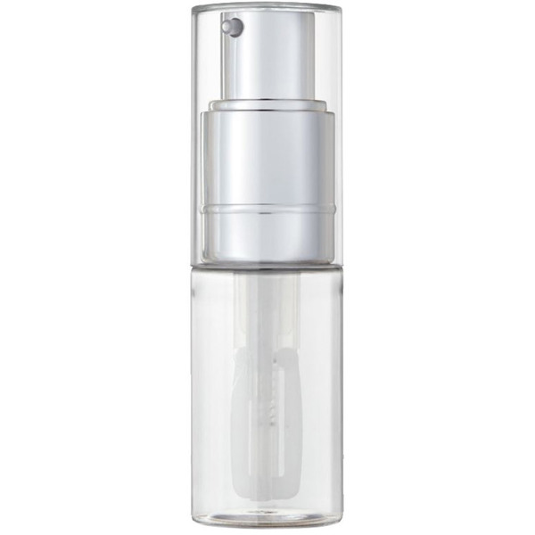 Fine Mist Powder Spray Bottle - Clear and Shiny Silver - 30 mL. - 1 oz. Case of 36 Individually Wrapped (29567 X 36)