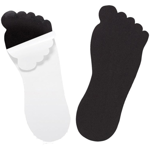 Strapless Sticky Feet - Foot-Shaped Sandals - Black Case of 250 Pair (504082 X 250)