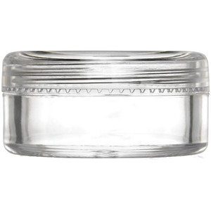 Clear Sampling Jar with Threaded Cap - 3 Grams - 0.1 oz. Each Case of 900 Jars (29354 X 3)