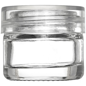 Thick Walled Clear Glass Sampling Jar - Clear Threaded Cap with Liner - 5 Gram - 5 mL. - 0.17 oz. 250 Assembled Jars (29757 X 5)