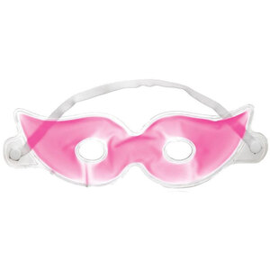 Whimsical Masquerade Style Gel Eye Masks - Pink Case of 60 Individually Wrapped Masks (505315 X 60)