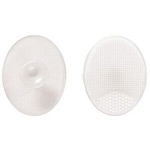 Oval Silicone Facial Cleansing Pad - Clear Case of 75 Individually Wrapped Cleansing Pads (96653 X 75)