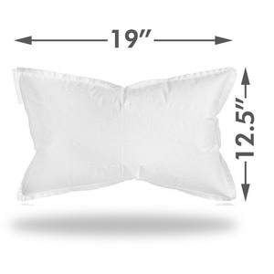 "Graham Medical FlexAir Disposable Pillow - Large - 19"" x 12.5"" Case of 100 (504708 X 2)"