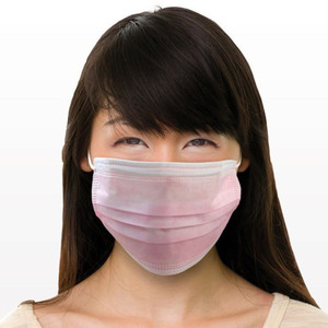 Ear Loop Face Masks - Pink 100 per Bag X 20 Bags = 2000 Masks (90606 X 20)