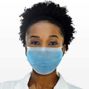 Ear Loop Face Masks - Blue 100 per Bag X 20 Bags = 2000 Masks (90607 X 20)