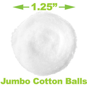 Jumbo Cotton Balls 100 per Bag X 80 Bags = 8000 Jumbo Cotton Balls (95204 X 80)