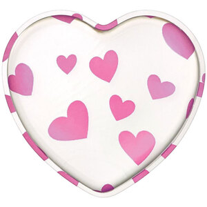 Heart Shaped Silicone Makeup Applicator - Clear with Pink Hearts Case of 48 Individually Wrapped Applicators (20231 X 48)