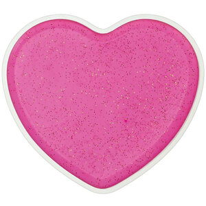 Heart Shaped Silicone Makeup Applicator - Pink Sparkle Case of 48 Individually Wrapped Applicators (20232 X 48)