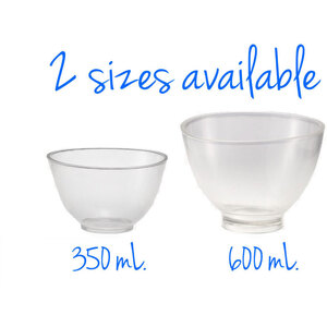 Flexible Washable Reusable Mixing Bowl - Clear - 600 mL. Case of 10 (503905 X 10)