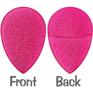 Finger Mitt Facial Exfoliating Sponge - Latex-Free Hydrophilic Polyurethane Foam- Hot Pink Case of 48 Individually Wrapped Sponges (96654 X 48)