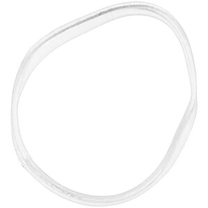 Rubber Hair Bands - Clear 250 Pieces Per Bag X 100 Bags = 25000 Rubber Bands (513658 X 100)
