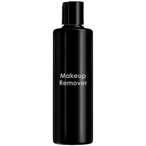 Empty Makeup Remover Bottles - Printed Cylinder Bottle With Smooth Disc Top Cap - Black 8.33 oz. - 250 mL. - Case of 75 Bottles (30064 X 75)