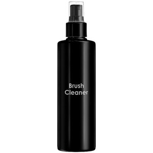 Empty Brush Cleaner Bottles - Printed Cylinder Bottle with Fine Mist Sprayer and Clear Overcap - Black 8.33 oz. - 250 mL. - Case of 75 Bottles (30062 X 75)