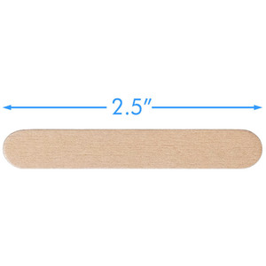 "Small Disposable Birchwood Spatulas - 2.5"" Long 500 Pieces Per Box X 14 Boxes = Case of 7000 (20271 X 14)"