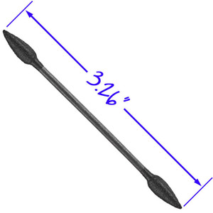 Dual Ended Point Tip Swab with Paper Handle - Black 100 Pieces Per Bag X 36 Bags = 3600 Swabs (11774 X 36)