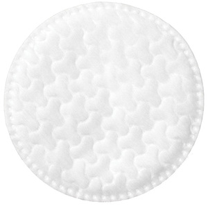 "Textured Round Cotton Pad with Stitched Edges - 2.25"" Diameter 80 Pieces Per Sleeve X 35 Sleeves = Case of 2800 Cotton Rounds (96624 X 35)"