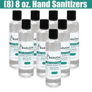 BodyOne Antibacterial Hand Sanitizer - 62% Alcohol 8 fl. oz. - 236 mL. X 8 Units = 1 Case (93562 X 8)