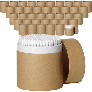 Cotton Swabs Packed in Paperboard Cylinder Containers Dual Ended Round Tip Swabs with Paper Handles Case of 40 Cylinders X 200 Swabs Each = 8000 Swabs (10249 X 40)