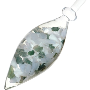 VitaJuwel Gem Water Gemstone Crystal Infuser Wand - Momentum: Chalcedony + Moss Agate + Milk Opal (01VJMOMACAD)