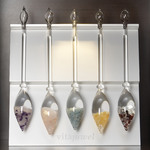Display for 5 VitaJuwel Gem Water Gemstone Crystal Infuser Wands - Aluminum (02ACHALT5)