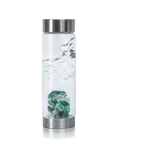 VitaJuwel ViA - Gem Water Bottle - Vitality: Emerald + Clear Quartz (01VJVIASM)