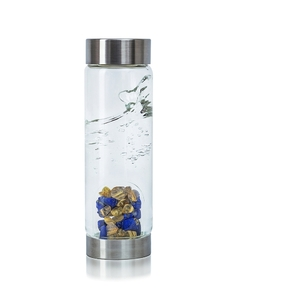 VitaJuwel ViA - Gem Water Bottle - Inspiration: Lapis Lazuli + Rutilated Quartz (01VJVIARQLLZL)