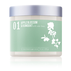 Apple Blossom & Kumquat With Cedar Honey - Tri-Functional Sugar Scrub 14 oz. Each - Case of 6 by MeBath (SS119)
