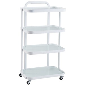 "DIR Beauty Cart - Metal Frame + 4 Glass Shelves - 36""H x 19.4""W x 13.6""D (5809)"