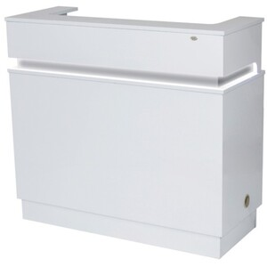 DIR Langara Reception Desk with LED Lighting - Available in White Black or Grey (4104)