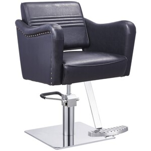 DIR Styling Chair Captain - Available with Round Square or Five-Star Base in Multiple Upholstery Colors (1853)