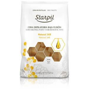 Starpil Natural - Stripless Hard Wax from Spain Non-Polymer 1 Kg. (2.2 Lbs.) Bag of Blocks X 4 Bags = 4 Kg. (8.8 Lbs.) Case (1522006 X 4)