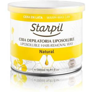 Starpil Natural - Soft Strip Wax from Spain 500 mL. (16.9 oz.) Can X 6 Cans = 1 Case (1543003 X 6)