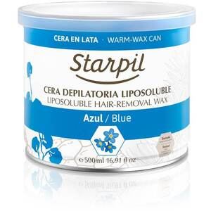 Starpil Blue - Soft Strip Wax from Spain 500 mL. (16.9 oz.) Can X 6 Cans = 1 Case (1543006 X 6)