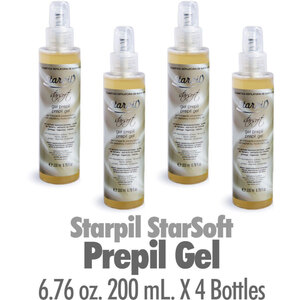 Starpil StarSoft - Prepil Gel from Spain 6.76 oz. 200 mL. X 4 Bottles (STARSOFT-PREGEL X 4)