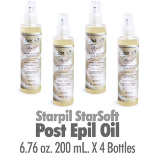 Starpil StarSoft - Post Epil Oil from Spain 6.76 oz. 200 mL. X 4 Bottles (STARSOFT-POSTOIL X 4)