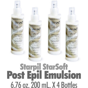 Starpil StarSoft - Post Epil Emulsion from Spain 6.76 oz. 200 mL. X 4 Bottles (STARSOFT-POSTEMULSION X 4)