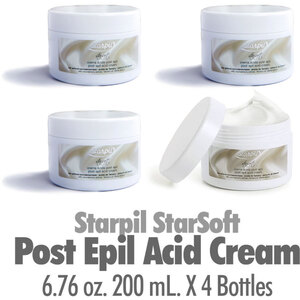 Starpil StarSoft - Post Epil Acid Cream from Spain 6.76 oz. 200 mL. X 4 Containers (STARSOFT-POSTACIDCREAM X 4)
