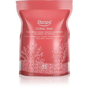 Starpil Coral Wax Beads with Mediterranean Coral Calcium Powder - Stripless Hard Wax from Spain 2 Lb. Bag of Beads X 2 Bags = 4 Lb. Case (CORAL-BEADS-2LBS X 2)